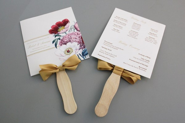 DIY Wedding Fan  A Round Up of Free Wedding Fan Programs B Lovely Events