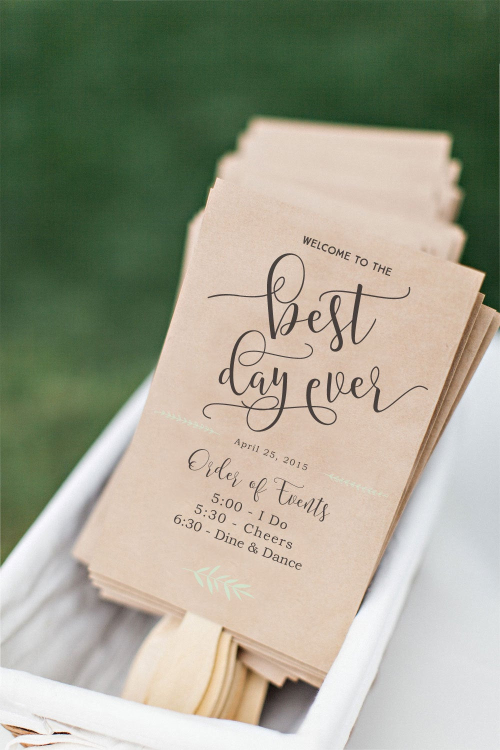 DIY Wedding Fan  Printable Wedding Program Fan DIY Wedding Program Fun