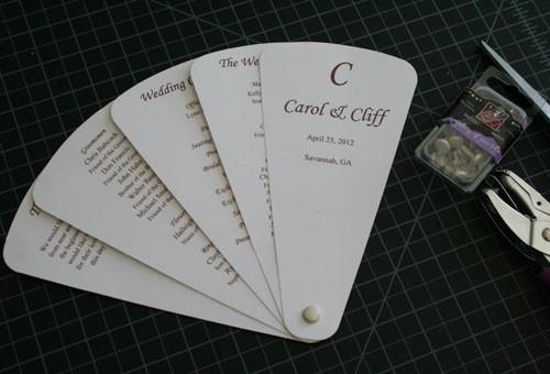 DIY Wedding Fan  Cherish Paperie DIY Wedding Invitations DIY Fan wedding