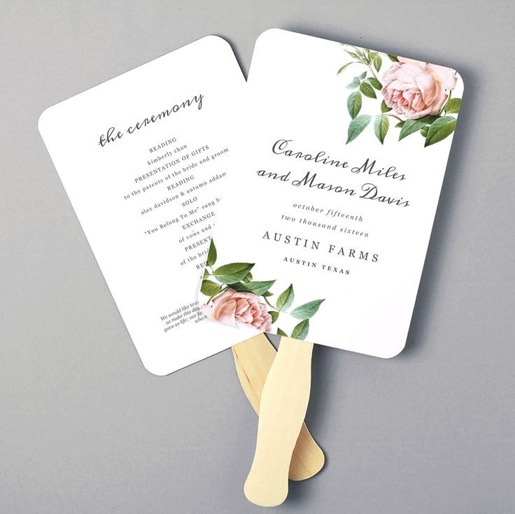 DIY Wedding Fan  Best 25 Wedding program templates ideas on Pinterest