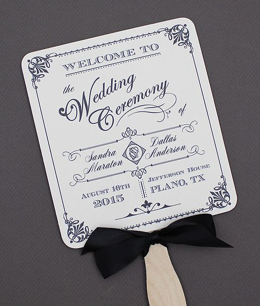 DIY Wedding Fan  Pin by Download & Print on DIY Wedding Programs