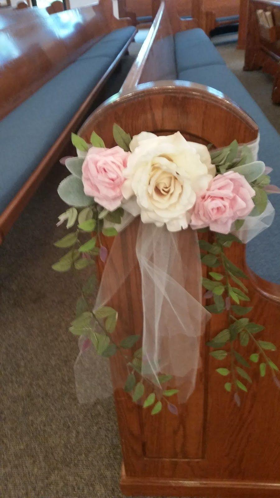 DIY Wedding Pew Decorations  Hope and Joy Home DIY wedding pew bows … …