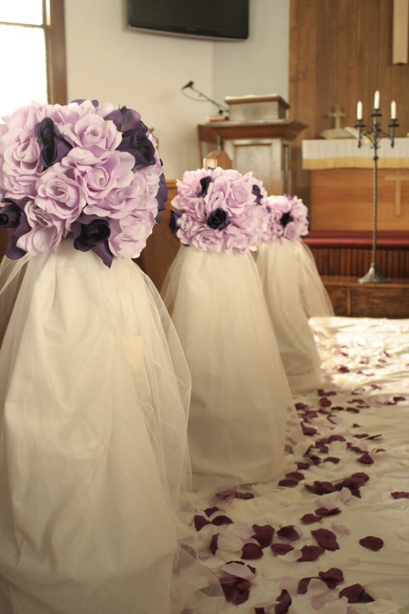 DIY Wedding Pew Decorations  DIY Wedding Decor E Book Super Sale