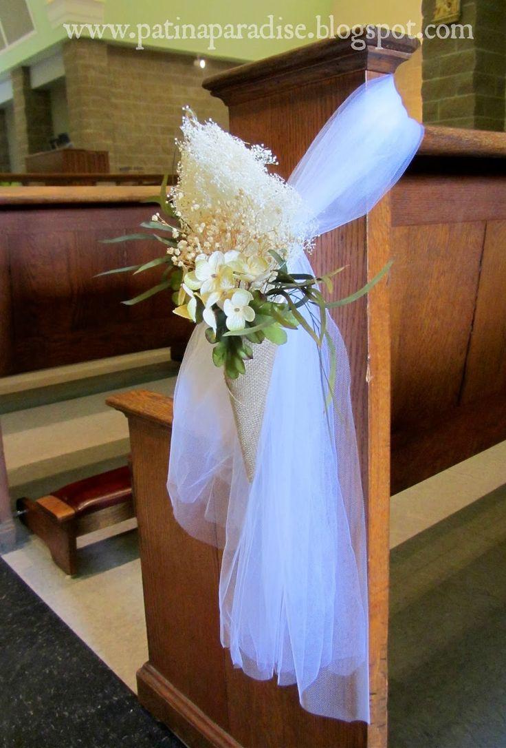 DIY Wedding Pew Decorations  Best 25 Church pew wedding ideas on Pinterest
