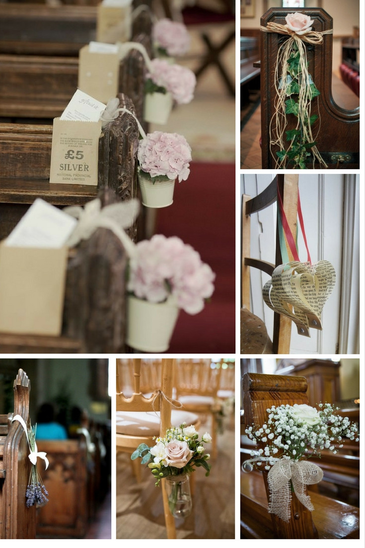 DIY Wedding Pew Decorations  5 easy DIY ideas to decorate your wedding pews