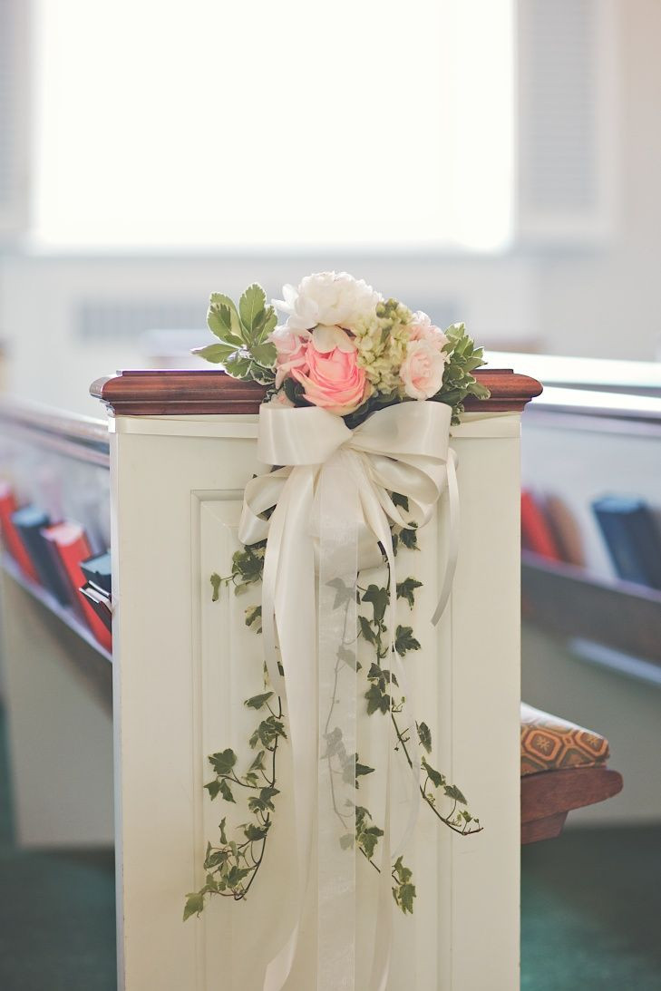 DIY Wedding Pew Decorations  Best 25 Church pew decorations ideas on Pinterest