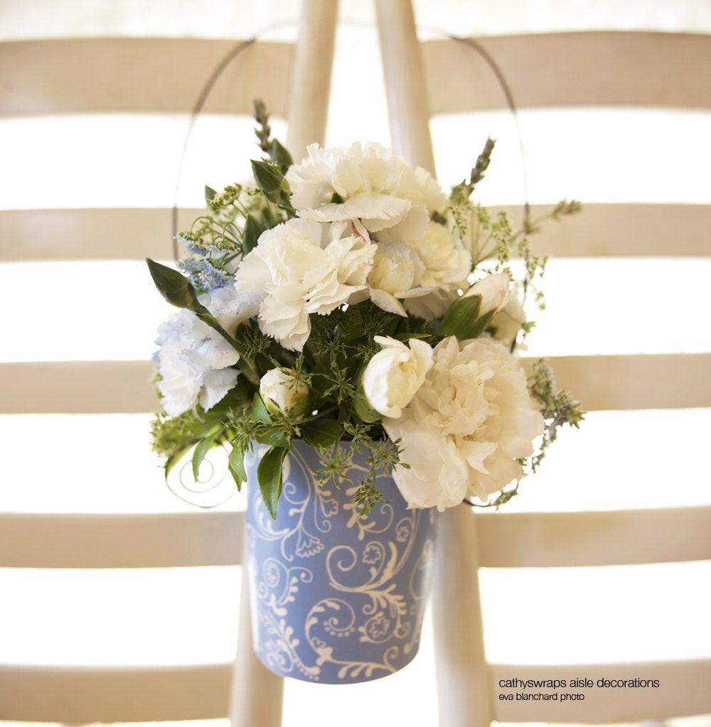 DIY Wedding Pew Decorations  DIY Wedding Ceremony Aisle Decorations Aisle by cathyswraps
