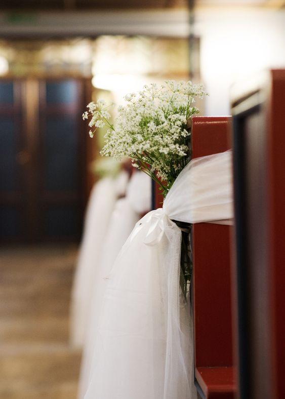 DIY Wedding Pew Decorations  Pinterest • The world's catalog of ideas