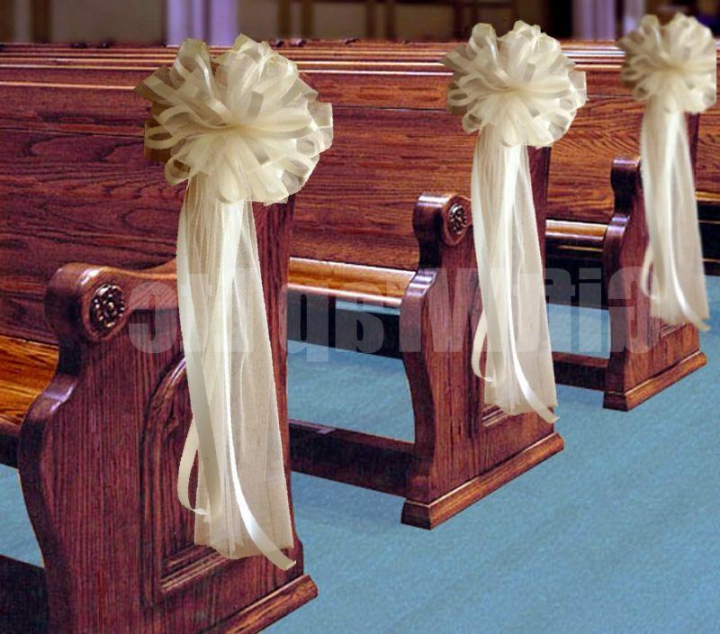 DIY Wedding Pew Decorations  Church Pew End Flowers and Wedding Decorations