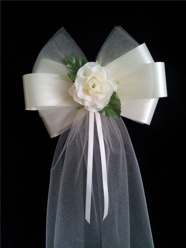 DIY Wedding Pew Decorations  Pew Bow Ideas Pew bow DIY Wedding