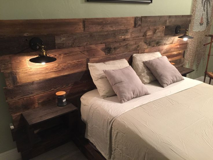DIY Wood King Headboard  Rustic Headboard standard Wood Headboard Queen