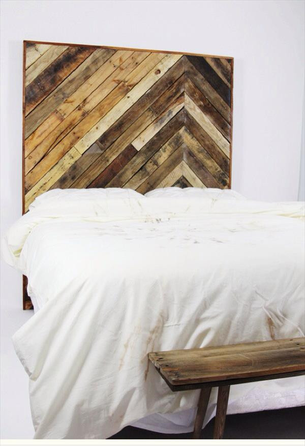 DIY Wood King Headboard  DIY Pallet King Size Headboard