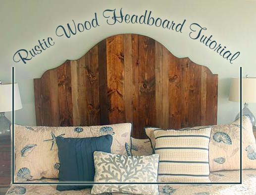 DIY Wood King Headboard  How to Create a Rustic Wood King Headboard Pretty Handy Girl