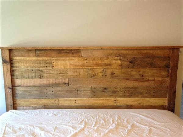 DIY Wood King Headboard  DIY King Sized Pallet Wood Headboard