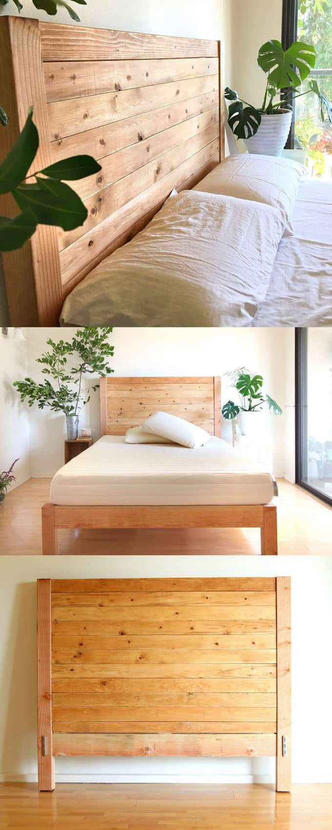 DIY Wood King Headboard  Easy and Beautiful Wood DIY Headboard A Piece Rainbow