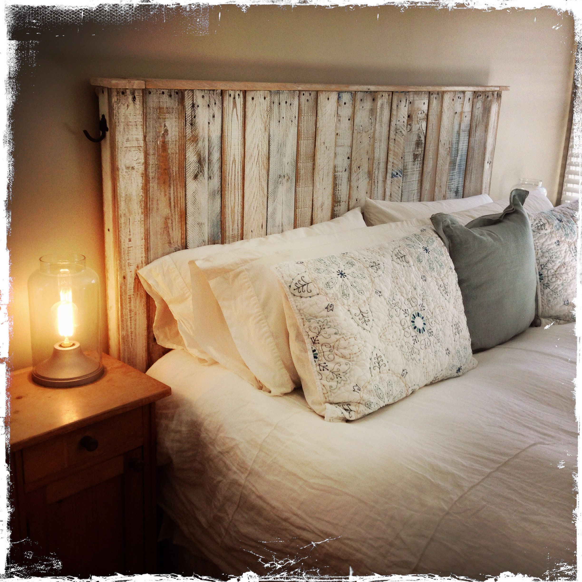 DIY Wood King Headboard  Pallet Wood Headboard by Mark Odlum reclaimedbymark