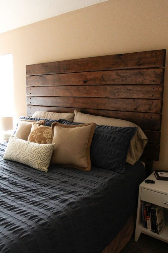 DIY Wood King Headboard  Best 25 Diy headboards ideas on Pinterest