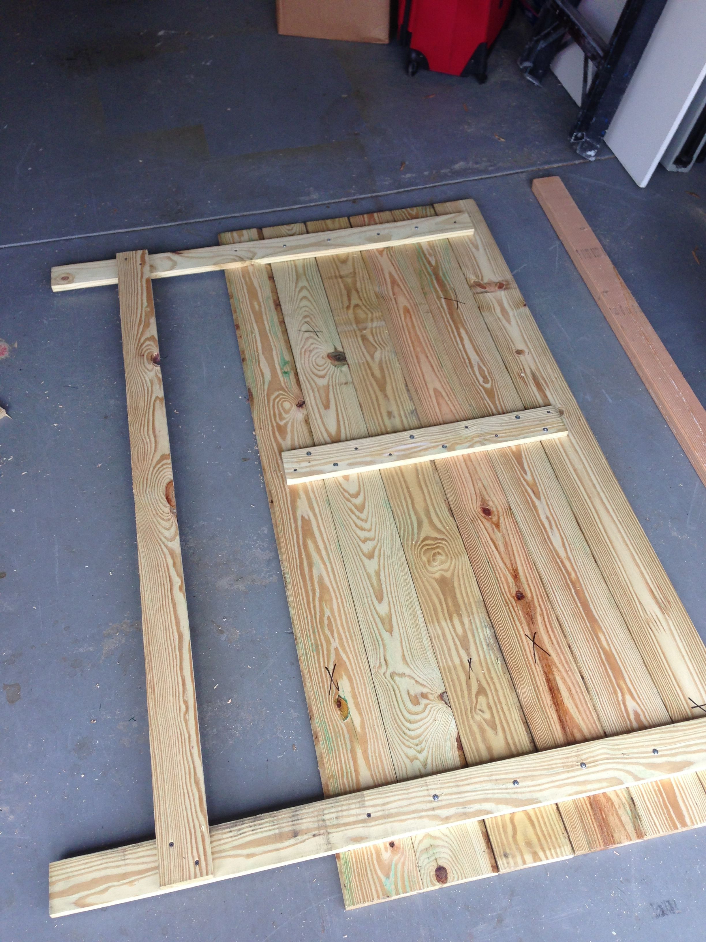 DIY Wood King Headboard  DIY king size headboard have Dad help me build and then
