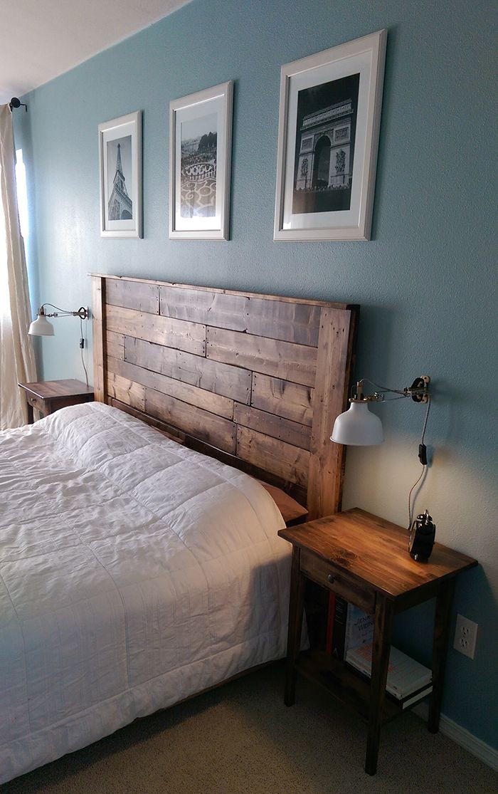 DIY Wood King Headboard  Top 25 best Barn wood headboard ideas on Pinterest