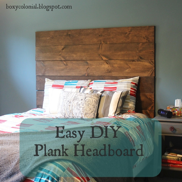 DIY Wood Plank Headboard  The Inspiration Gallery features