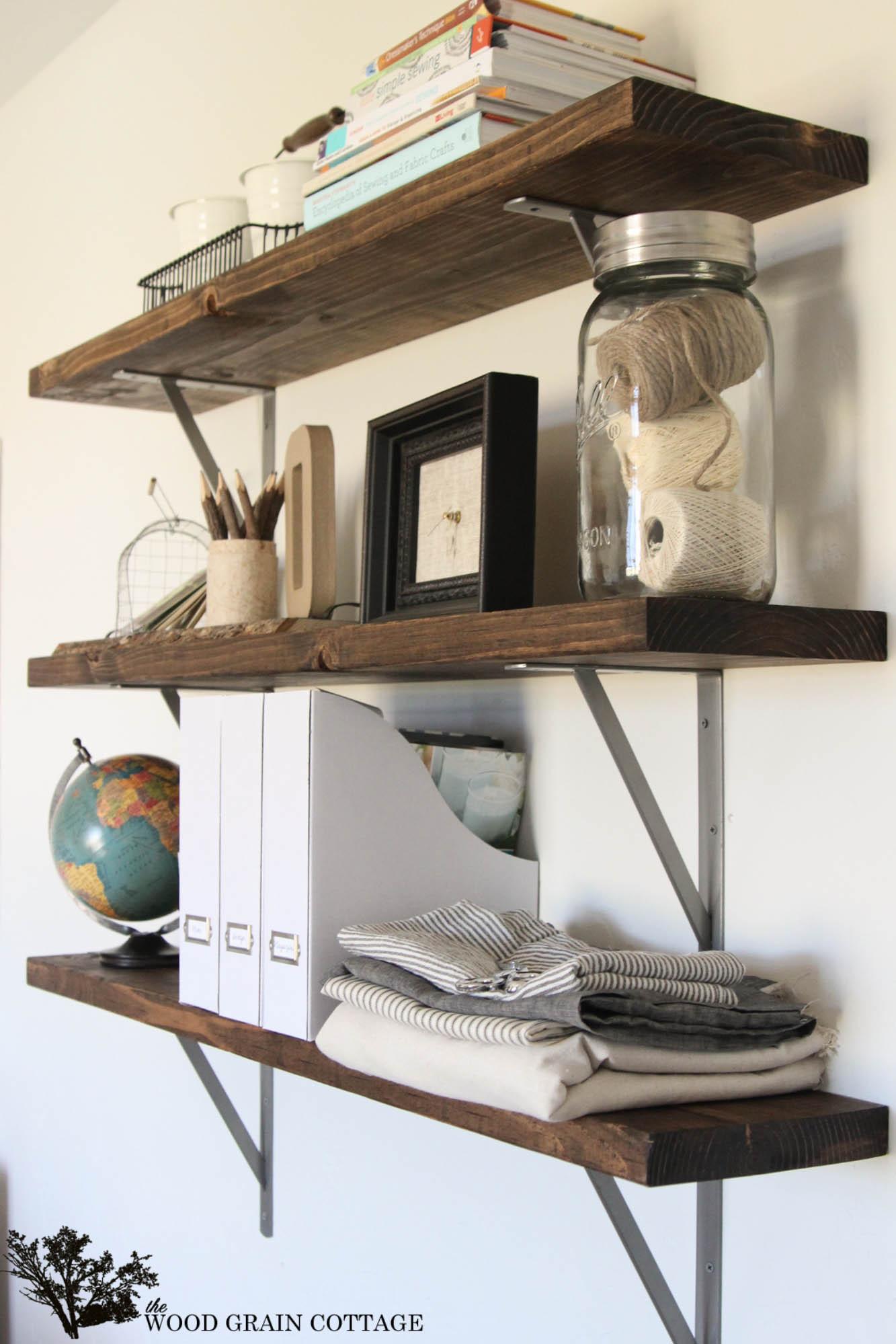 DIY Wood Storage Shelves  Farmhouse Flair Diy Wood Storage Shelf How To