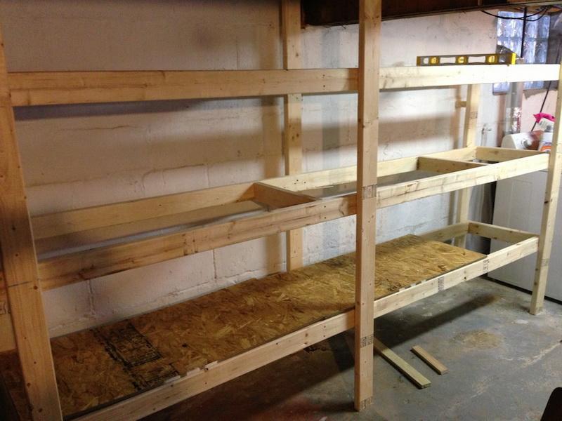 DIY Wood Storage Shelves  20 DIY Garage Shelving Ideas
