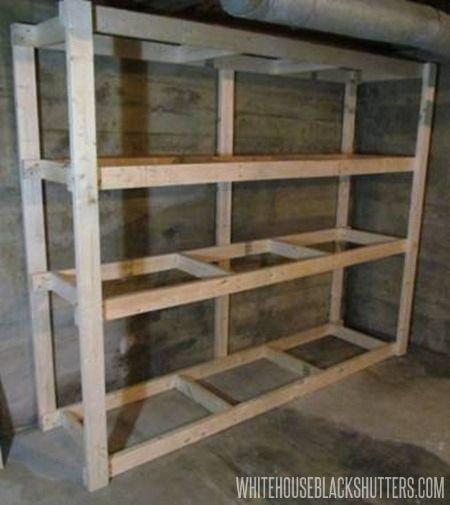 DIY Wood Storage Shelves  Cheap Garage Shelves Ideas