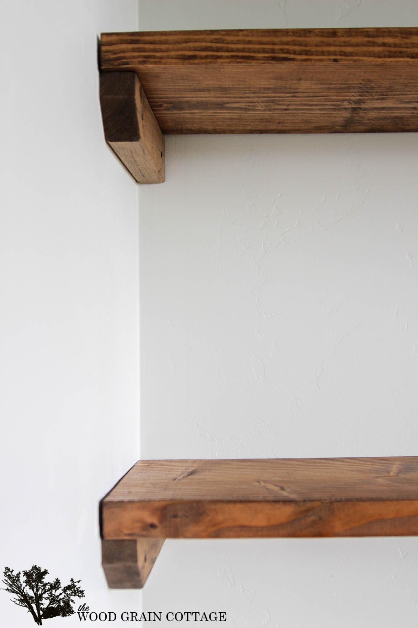 DIY Wood Storage Shelves  DIY Dining Room Open Shelving The Wood Grain Cottage