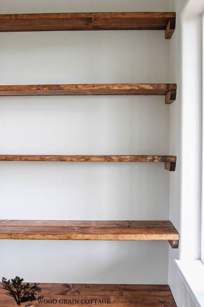 DIY Wood Storage Shelves  DIY Shelves 18 DIY Shelving Ideas