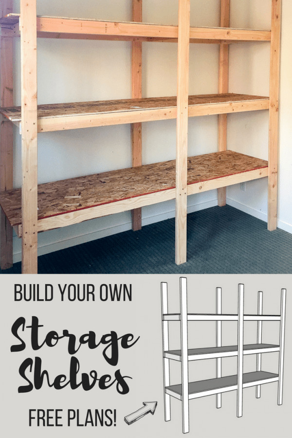 DIY Wood Storage Shelves  How to Build Storage Shelves for Less than $75 The