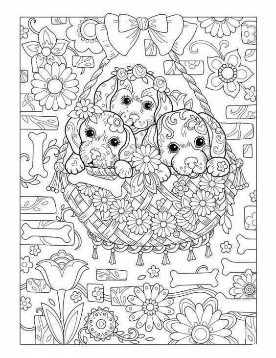 Dog Coloring Books For Adults  30 Free Printable Puppy Coloring Pages
