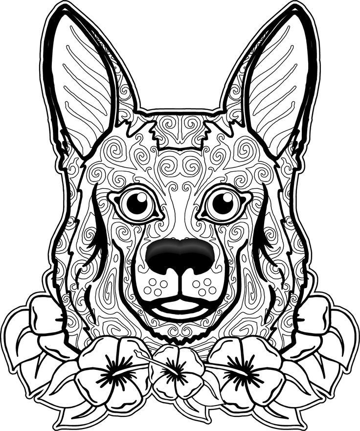 Dog Coloring Books For Adults  Dogs Coloring Pages Difficult Adult Coloring Home
