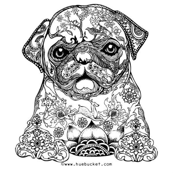 Dog Coloring Books For Adults  12 Free Printable Adult Coloring Pages for Summer