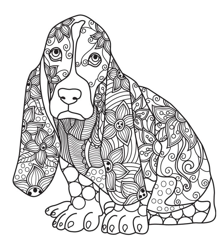 Dog Coloring Books For Adults  431 best images about Cats Dogs Coloring Pages for