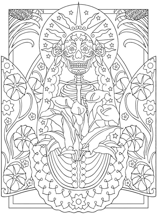 Dover Coloring Books For Adults  Wel e to Dover Publications Creative Haven Day of the