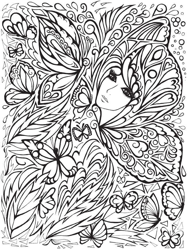 Dover Coloring Books For Adults  Creative Haven Fanciful Faces Coloring Book Wel e to