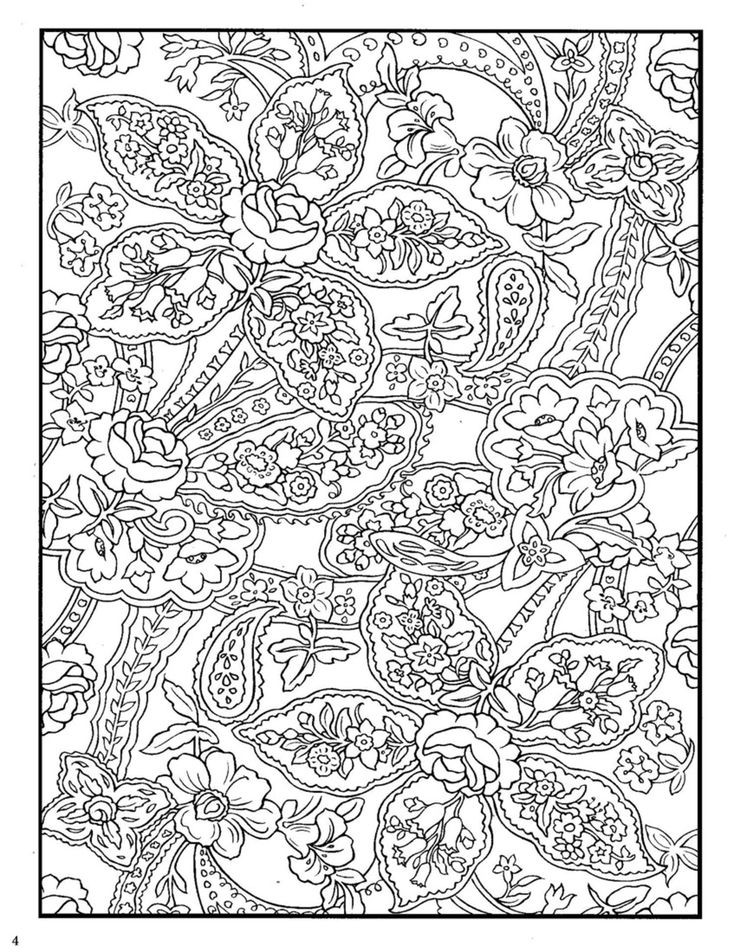 Dover Coloring Books For Adults  Dover Paisley Designs Coloring Book