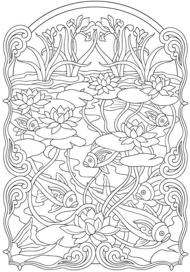 Dover Coloring Books For Adults  printable dover coloring pages