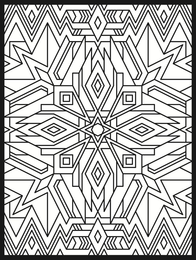 Dover Coloring Books For Adults  Stained glass design 2 from Dover Publications