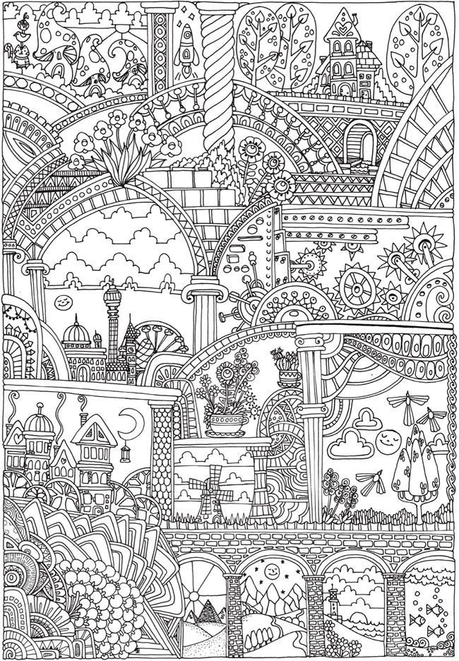 Dover Coloring Books For Adults  25 best ideas about Dover coloring pages on Pinterest