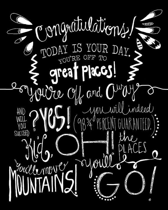 Dr Seuss Graduation Quotes  Oh The Places You'll Go Graduation Party Ideas
