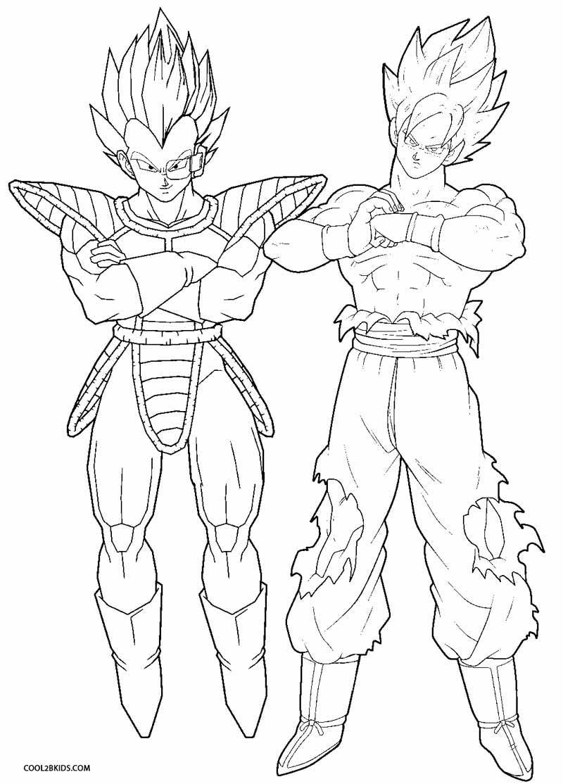 Dragon Ball Z Coloring Pages Printable  Printable Goku Coloring Pages For Kids