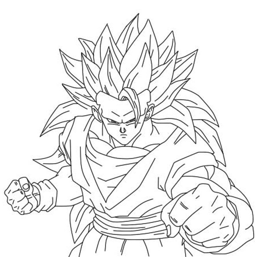 Dragon Ball Z Coloring Pages Printable  Free Printable Dragon Ball Z Coloring Pages For Kids