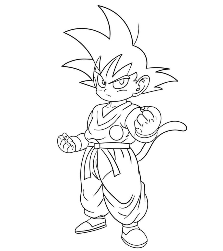 Dragon Ball Z Coloring Pages Printable  Top 20 Free Printable Dragon Ball Z Coloring Pages line