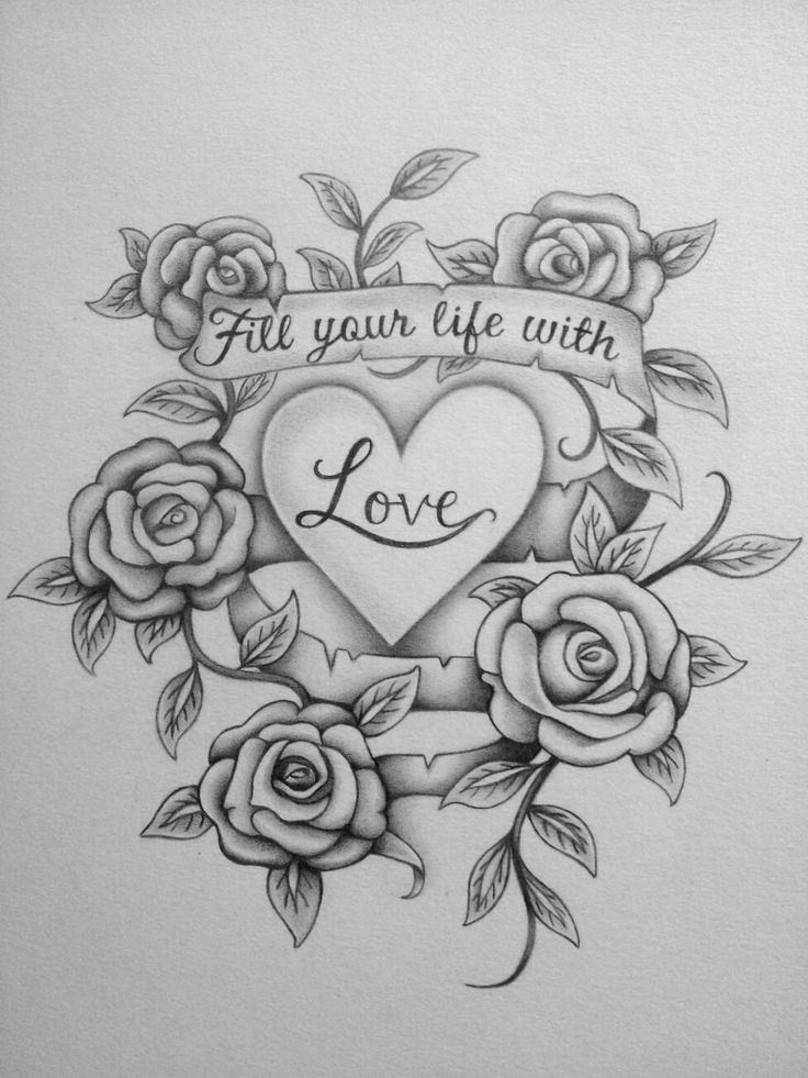 Drawing Love Quotes  27 Love Drawings Pencil Drawings Sketches