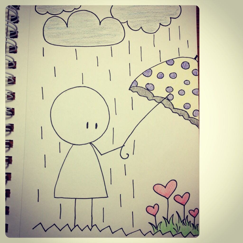 Drawing Love Quotes  Drawn sad happiness Pencil and in color drawn sad happiness