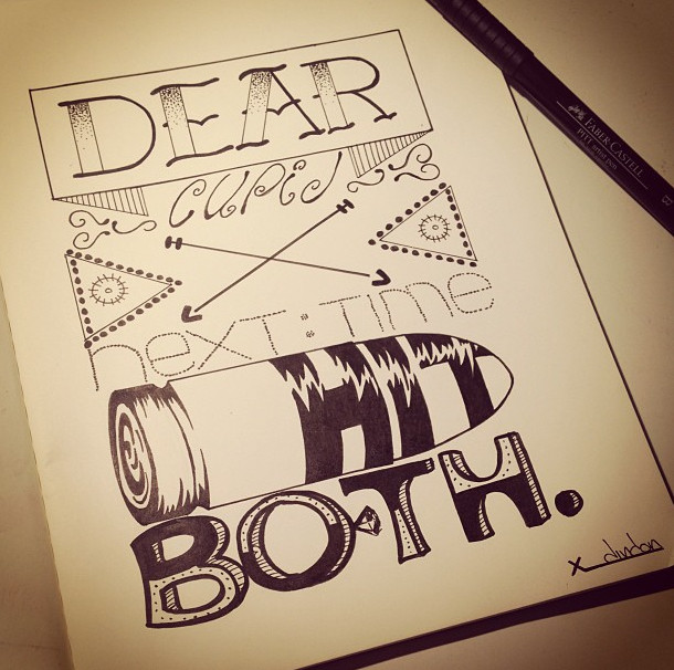 Drawing Love Quotes  Hand lettering Lettering Sketchbook Illustration