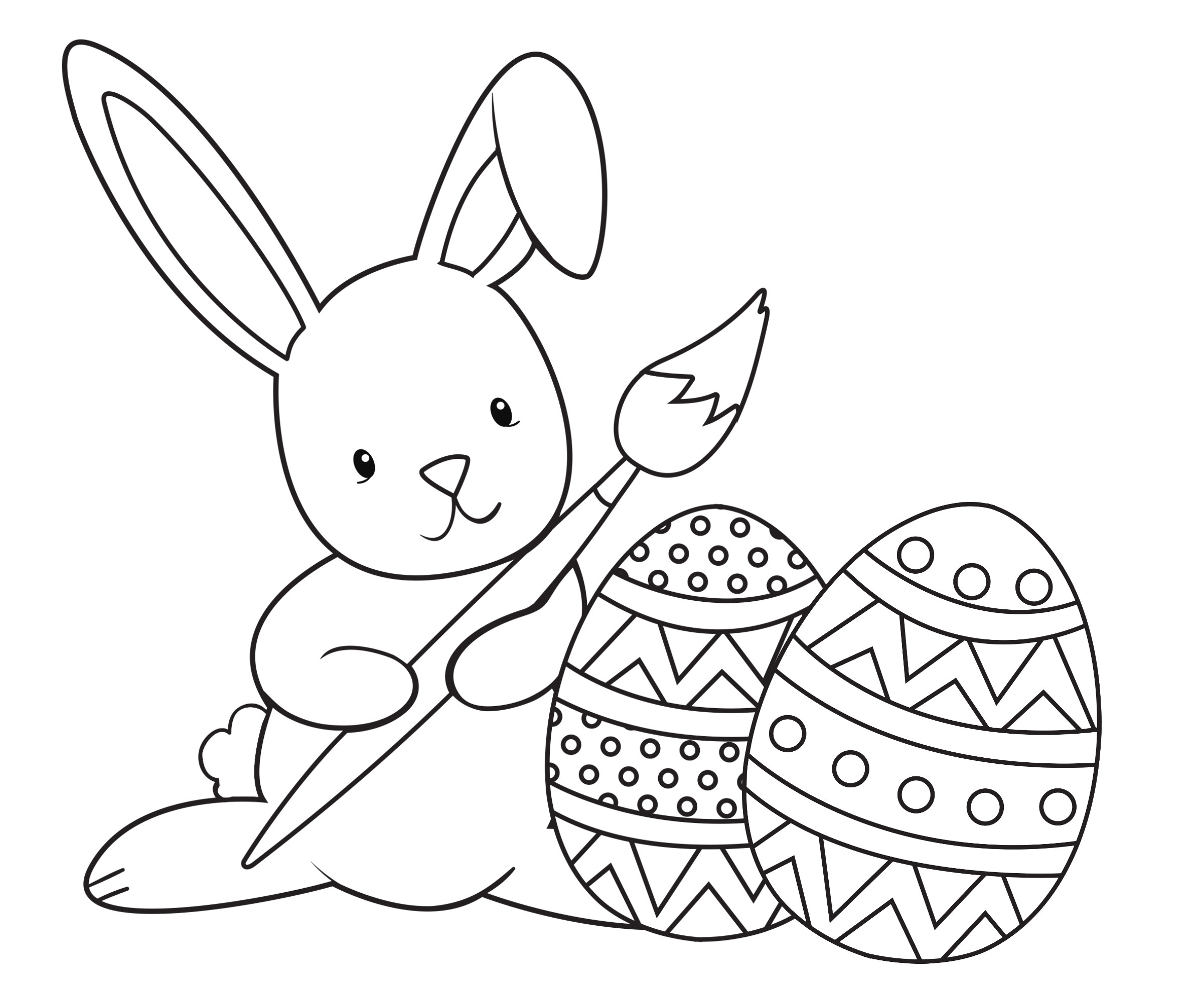 Easter Bunny Coloring Pages For Toddlers  Easter Coloring Pages for Kids Crazy Little Projects