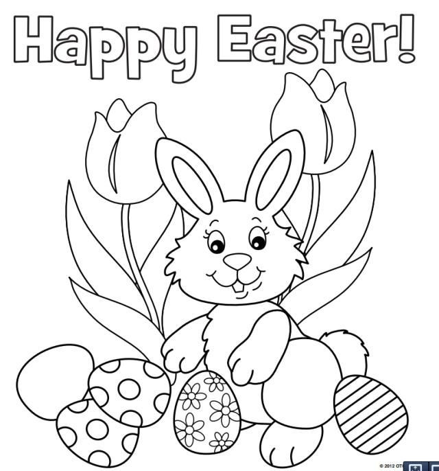 Easter Bunny Coloring Pages For Toddlers  The Kids Will Love These Free Printable Easter Bunny