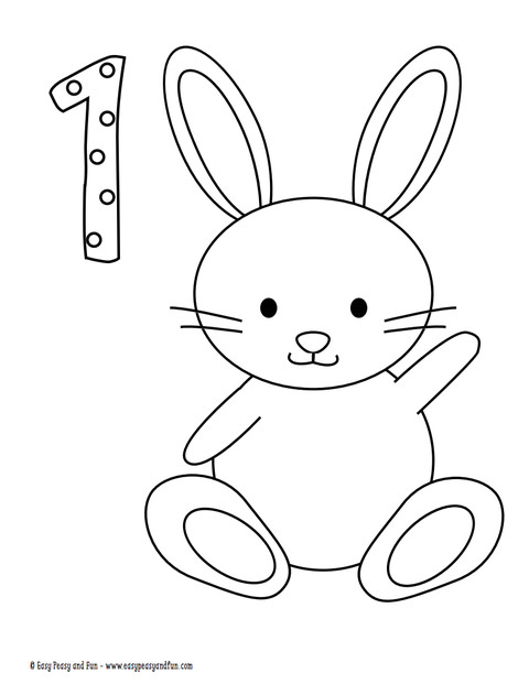 Easter Bunny Coloring Pages For Toddlers  10 Easter Coloring Pages for Kids Easter Crafts for Children
